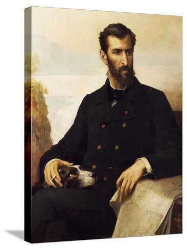 Portrait of Pierre Paul Francois Camille Savorgnan De Brazza--Stretched Canvas Print