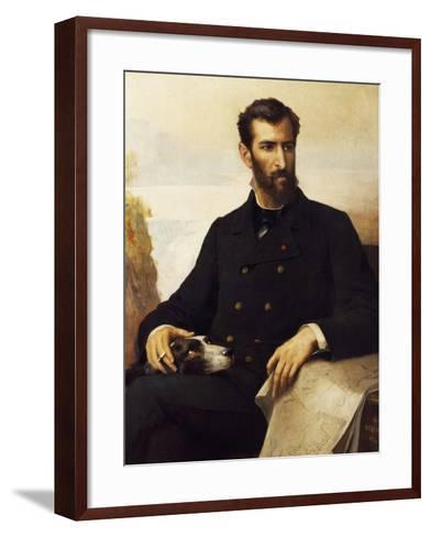 Portrait of Pierre Paul Francois Camille Savorgnan De Brazza--Framed Art Print