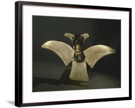 Eagle with Open Wings, Gold Artifact Originating from Veraguas--Framed Art Print