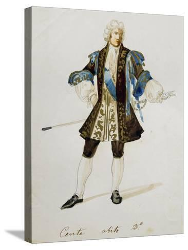 Costume Sketch for Count in Adriana Lecouvreur, Opera by Francesco Cilea--Stretched Canvas Print
