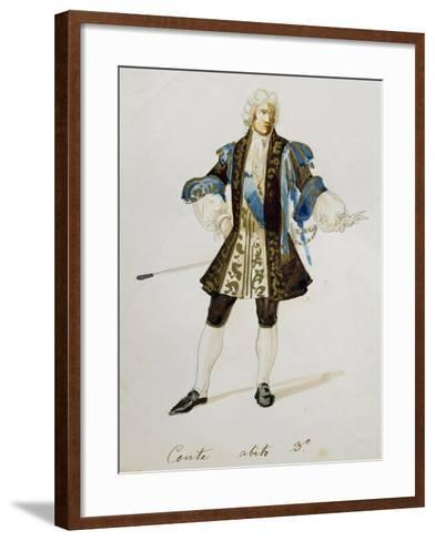 Costume Sketch for Count in Adriana Lecouvreur, Opera by Francesco Cilea--Framed Art Print