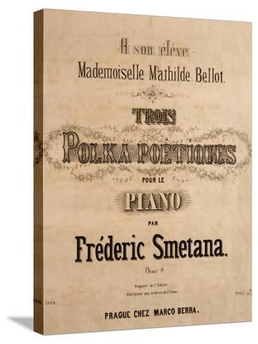Title Page of Score for Three Poetic Polkas for Piano--Stretched Canvas Print