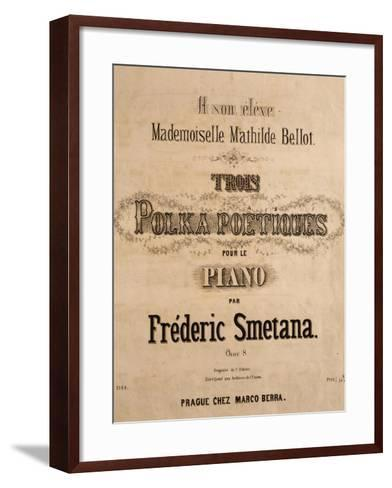 Title Page of Score for Three Poetic Polkas for Piano--Framed Art Print