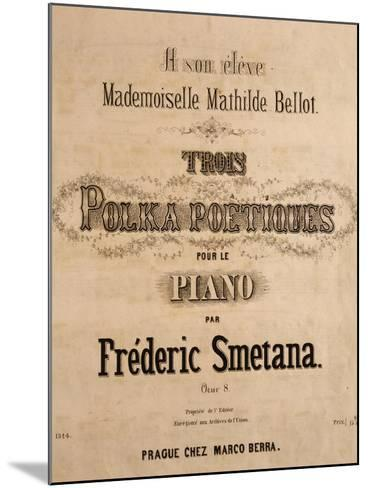 Title Page of Score for Three Poetic Polkas for Piano--Mounted Giclee Print