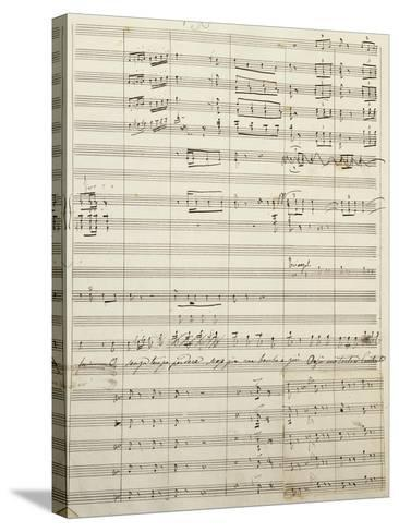 Autograph Sheet Music of Act I of Gina, Opera by Francesco Cilea--Stretched Canvas Print