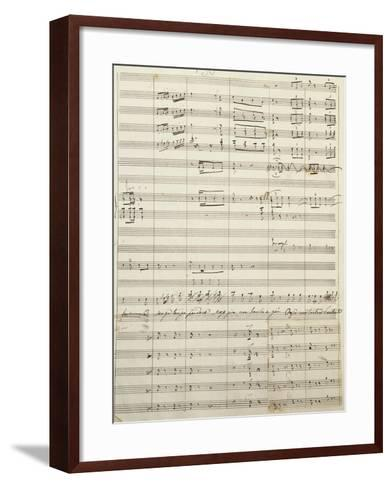 Autograph Sheet Music of Act I of Gina, Opera by Francesco Cilea--Framed Art Print