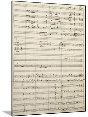Autograph Sheet Music of Act I of Gina, Opera by Francesco Cilea--Mounted Giclee Print