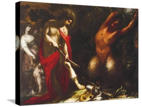 Apollo and Marsyas, Ca 1650, Francesco Montelatici known as Cecco Bravo--Stretched Canvas Print