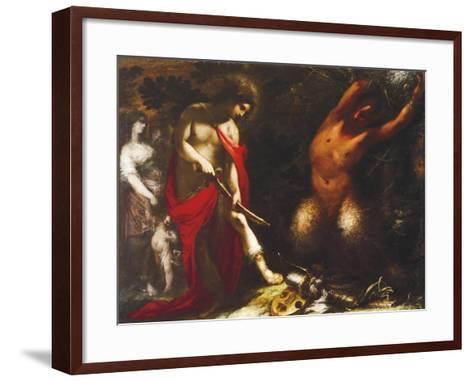 Apollo and Marsyas, Ca 1650, Francesco Montelatici known as Cecco Bravo--Framed Art Print