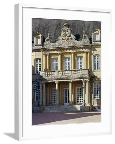 Entrance Portico Surmounted by Carved Coat of Arms, Dree Castle--Framed Art Print