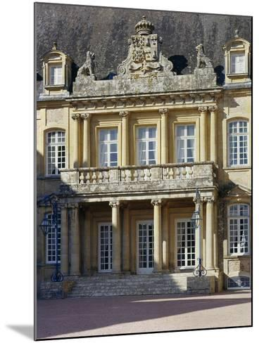 Entrance Portico Surmounted by Carved Coat of Arms, Dree Castle--Mounted Giclee Print