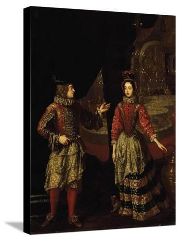 Palatine Voters Wearing Masks, Anna Maria Luisa De'Medici--Stretched Canvas Print