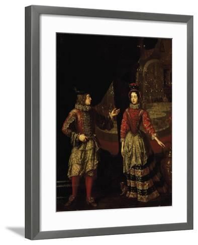 Palatine Voters Wearing Masks, Anna Maria Luisa De'Medici--Framed Art Print