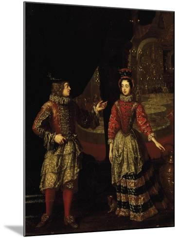 Palatine Voters Wearing Masks, Anna Maria Luisa De'Medici--Mounted Giclee Print