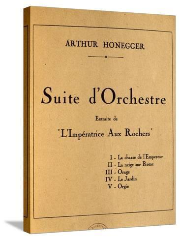 Title Page of Empress of Rocks, Orchestral Suite by Arthur Honegger--Stretched Canvas Print