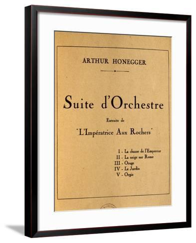 Title Page of Empress of Rocks, Orchestral Suite by Arthur Honegger--Framed Art Print