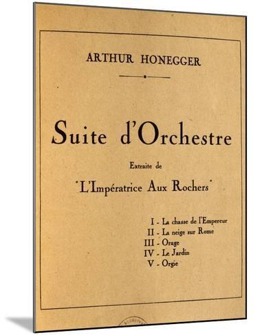 Title Page of Empress of Rocks, Orchestral Suite by Arthur Honegger--Mounted Giclee Print