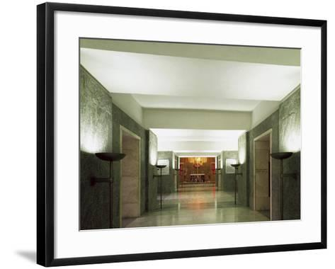 Interior of the World War II Monument of Marzabotto--Framed Art Print