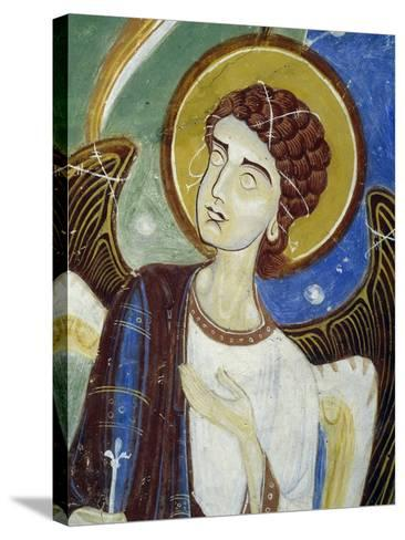 Angel, Western Figure, Detail of Southern Wing of Stone Cross--Stretched Canvas Print