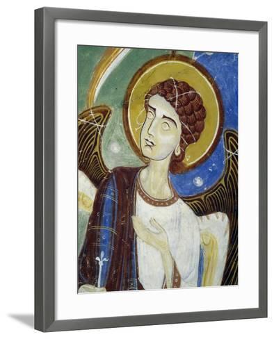 Angel, Western Figure, Detail of Southern Wing of Stone Cross--Framed Art Print