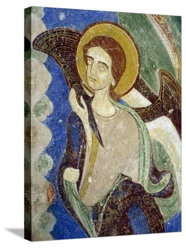 Angel, Oriental Figure, Detail of Southern Wing of Stone Cross--Stretched Canvas Print