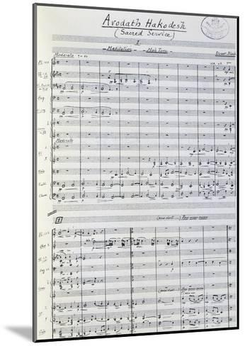 Music Score from Arodath Hakodesh--Mounted Giclee Print
