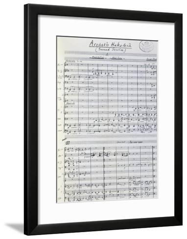 Music Score from Arodath Hakodesh--Framed Art Print