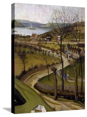 Landscape, Detail of the Nativity, Ca 1425--Stretched Canvas Print