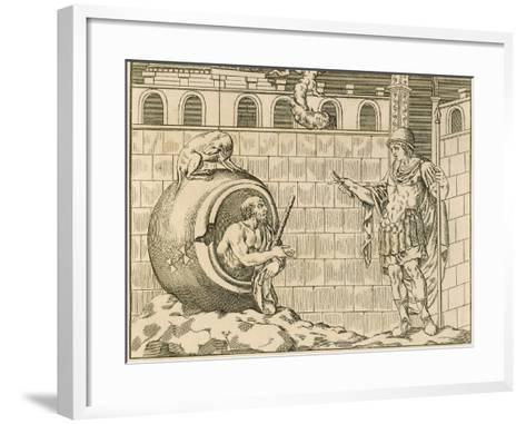 Diogenes and Alexander from Unpublished Monuments of Antiquity--Framed Art Print