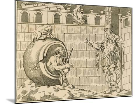 Diogenes and Alexander from Unpublished Monuments of Antiquity--Mounted Giclee Print