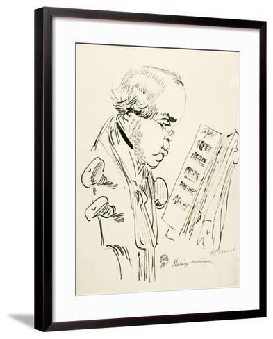 Portrait of Jacques Fromental Elie Levy, known as Halevy--Framed Art Print
