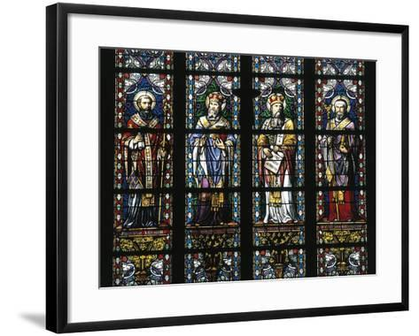 Detail from Stained Glass Windows, St John's Cathedral--Framed Art Print
