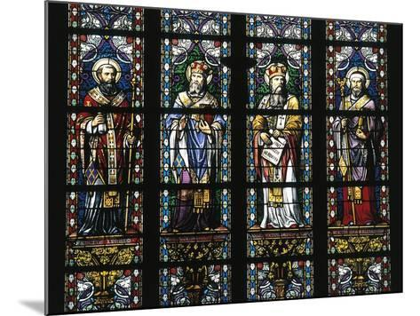 Detail from Stained Glass Windows, St John's Cathedral--Mounted Giclee Print