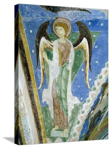 Angel Figure, Fresco, Crypt of Monte Maria Abbey, Near Mals--Stretched Canvas Print