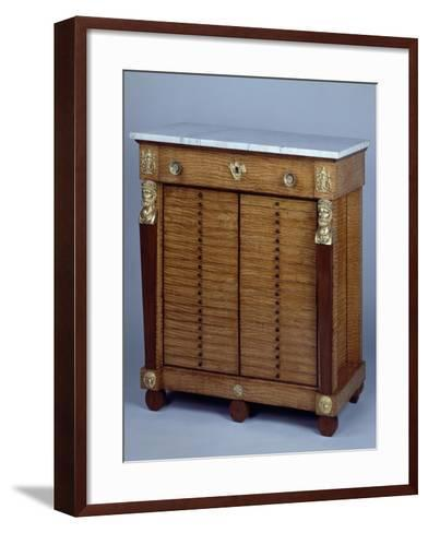 Late Empire Style Coin Cabinet Attributed to Charles-Joseph Le Marchand--Framed Art Print