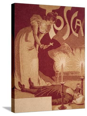 Postcard Depicting Scene from Tosca, Opera by Giacomo Puccini--Stretched Canvas Print