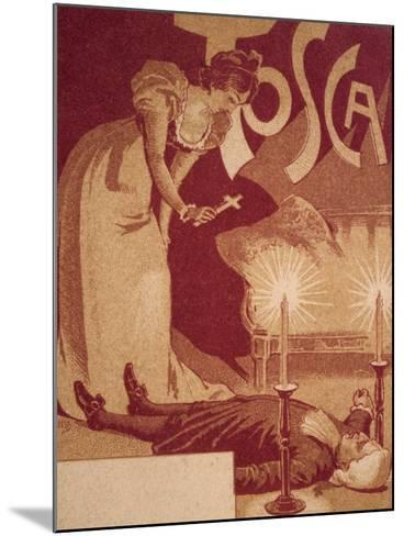 Postcard Depicting Scene from Tosca, Opera by Giacomo Puccini--Mounted Giclee Print