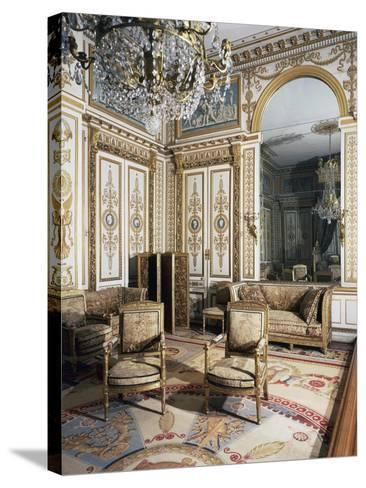 Emperor's Bedroom, Large Apartments of Napoleon I, Palace of Fontainebleau--Stretched Canvas Print
