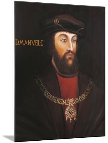 Portrait of Manuel I of Portugal, known as the Fortunato--Mounted Giclee Print