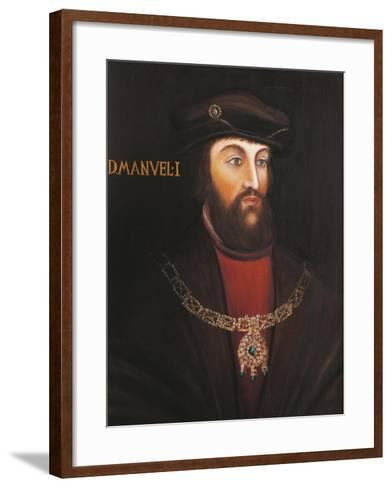 Portrait of Manuel I of Portugal, known as the Fortunato--Framed Art Print