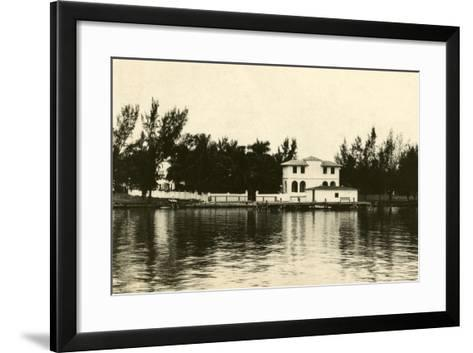 Al Capone''s Home on Palm Island, Miami Beach, C.1928--Framed Art Print