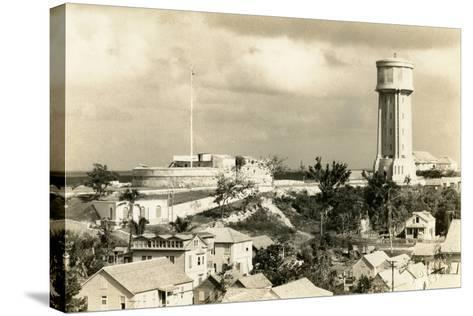 Fort Fincastle and Water Tower, Nassau, Bahamas, C.1955--Stretched Canvas Print