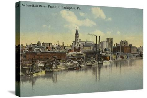 Schuylkill River Front, Philadelphia, Pennsylvania--Stretched Canvas Print