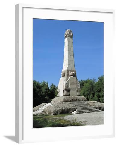 Obelisk in Memory of the Fallen in the Battle of Podgora--Framed Art Print