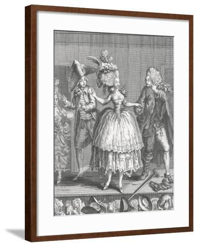 Actors at Apron Stage at End of Performance at Comedie-Francaise--Framed Art Print