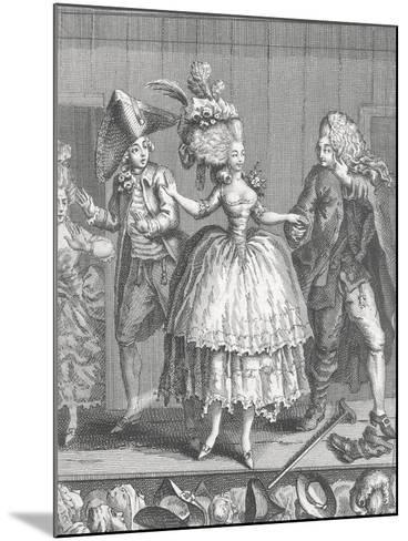 Actors at Apron Stage at End of Performance at Comedie-Francaise--Mounted Giclee Print