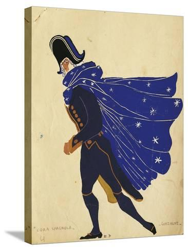 Gonzalve, Costume Sketch for the Spanish Hour, by Maurice Ravel--Stretched Canvas Print