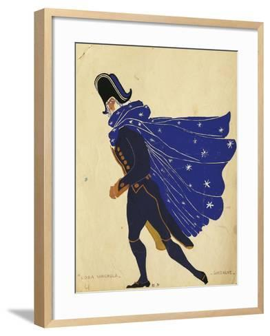 Gonzalve, Costume Sketch for the Spanish Hour, by Maurice Ravel--Framed Art Print