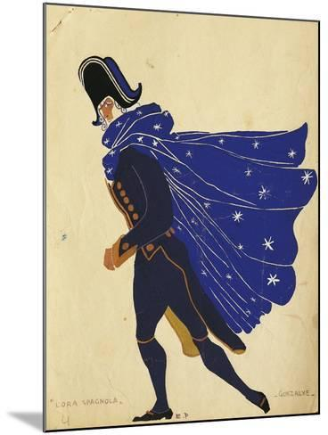 Gonzalve, Costume Sketch for the Spanish Hour, by Maurice Ravel--Mounted Giclee Print