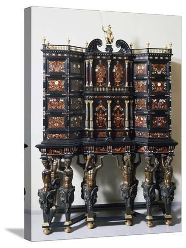 Ebony Cabinet with Inlays--Stretched Canvas Print